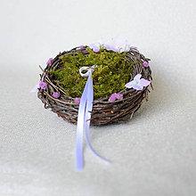 Prstene - Hniezdo na svadobné obrúčky - 8148009_