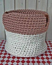 Košíky - Bielo ružový - 8149575_