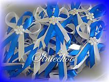 Svadobné pierka kráľovská modrá