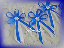 Svadobné pierko kráľovská modrá pre rodičov, svedkov
