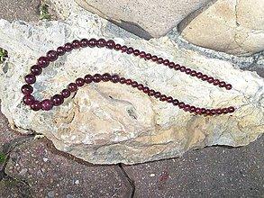 Náhrdelníky - granát striebro náhrdelník - 8148625_