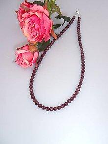Náhrdelníky - granát náhrdelník - 8148650_