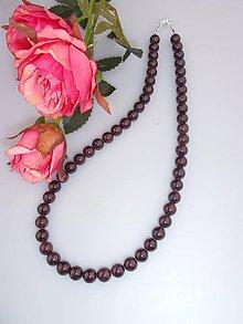 Náhrdelníky - granátový náhrdelník - 8148662_