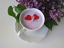 Svietidlá a sviečky - Šálkosviečka v bielom porceláne - 8149272_