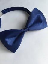 Doplnky - Motýlik - modrý saténový - 8146095_