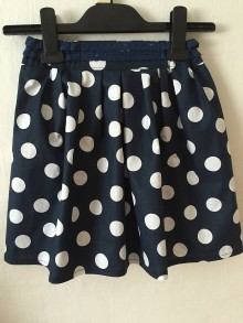Detské oblečenie - Detská suknička - veľká modrá bodka - 8146098_