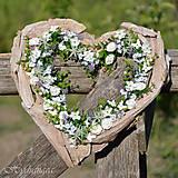 Dekorácie - Srdce biele - 8149406_