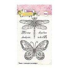 Pomôcky/Nástroje - StudioLight - Celebrate Spring 172 - silikónová pečiatka s motýľom a vážkou - 8148213_