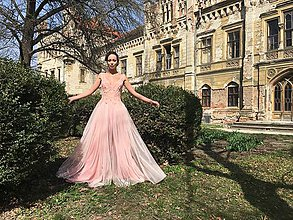 Šaty - Powder Pink - 8148468_