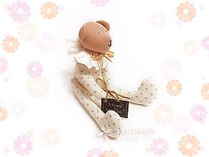 Hračky - Textilná hračka - Macko krémový - 8146561_