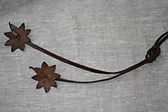 Opasky - Kožený opasok s kvietkami - 8151630_