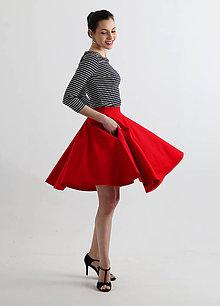 Sukne - Kruhová sukňa s vreckami - 8149930_