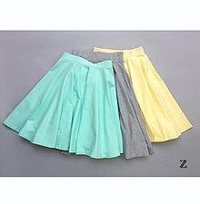 Sukne - Kruhová sukňa ...jednofarebná - 8149992_