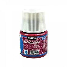 Farby-laky - Farba na textil Pébéo, Setacolor light, glitter (207 tourmaline) - 8150006_