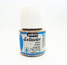 Farby-laky - Farba na textil Pébéo, Setacolor light, glitter (210 multi) - 8150105_