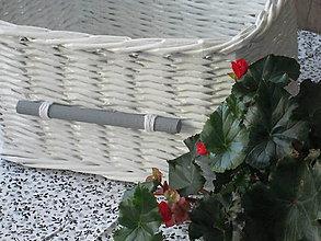 Košíky - Košík - Biely so šedou - 8152185_