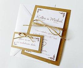Papiernictvo - svadobné oznámenie Natur - 8151755_
