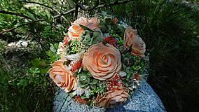 Dekorácie - Kytička s broskyňovými kvetmi. - 8151215_