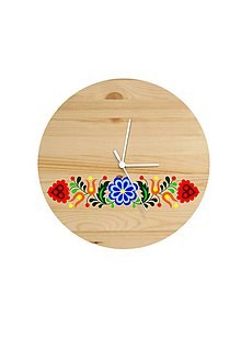 Hodiny - Na dreve maľované • hodiny - 8150107_