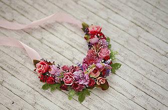 Náhrdelníky - Kvetinový náhrdelník - 8152515_