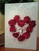 svadobná pohľadnica červená