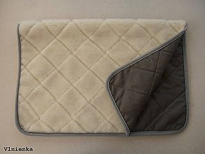 Úžitkový textil - Deka 100% ovčie rúno MERINO ELEGANT KHAKI sivo-hnedá - 8152736_