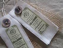 Dekorácie - Textilné visačky - 8150274_