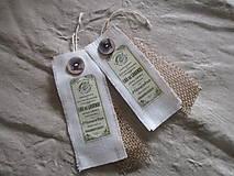 Dekorácie - Textilné visačky - 8150275_