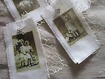 Dekorácie - Textilné visačky Vintage - 8151150_