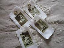Dekorácie - Textilné visačky Vintage - 8151151_