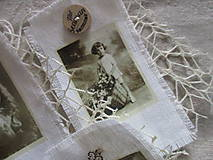 Dekorácie - Textilné visačky Vintage - 8151158_