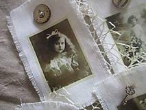 Dekorácie - Textilné visačky Vintage - 8151159_