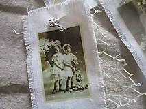 Dekorácie - Textilné visačky Vintage - 8151164_