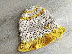 Detské čiapky - Letný klobúčik - 8152664_