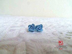 """Náušnice - Náušnice """"Bledomodré ružičky"""" - 8152297_"""