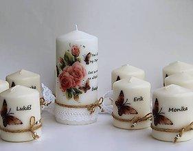 Svietidlá a sviečky - Sviečky s venovaním pre pani učiteľku - set - 8151641_