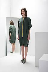 Mikiny - Mikinový kabát Olive - 8151527_