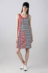 Šaty - Šaty Stripes Asymmetry zlevněno o  30% - 8152011_
