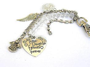 Kľúčenky - laska dcery a mamy - den matiek klucenka - 8151845_