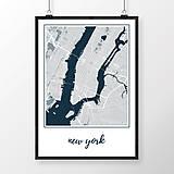 Obrazy - NEW YORK, klasický, svetlomodrý - 8152260_