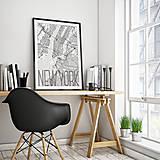 Obrazy - NEW YORK, elegantný, biely - 8152293_