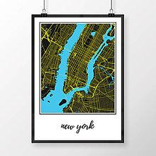 Obrazy - NEW YORK, klasický, čierny - 8151783_