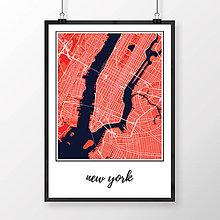 Obrazy - NEW YORK, klasický, červený - 8152132_