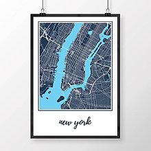 Obrazy - NEW YORK, klasický, tmavomodrý - 8152160_