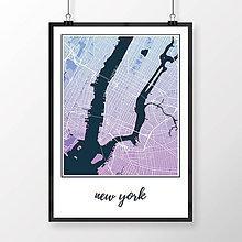 Obrazy - NEW YORK, klasický, modro-fialový - 8152222_