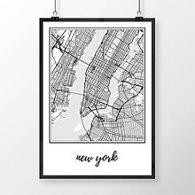 Obrazy - NEW YORK, klasický, biely - 8152284_