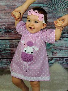 Detské oblečenie - Ovečkovské šatky - 8150096_