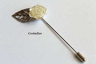 Odznaky/Brošne - Ozdobná ihla Rose - 8152542_