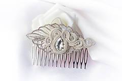 Ozdoby do vlasov - Soutache hrebienok - 8149771_