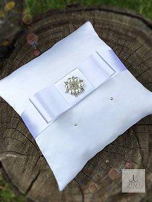 Prstene - Vankúšik pod obrúčky Simplicity White - 8152970_